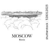 luzhniki stadium  moscow ... | Shutterstock .eps vector #528312025