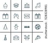 set of 16 holiday icons. can be ... | Shutterstock .eps vector #528328981