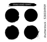 set of vector grunge round... | Shutterstock .eps vector #528334909