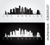 los angeles usa skyline and... | Shutterstock .eps vector #528335137