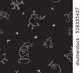 doodle christmas pattern with... | Shutterstock .eps vector #528335437