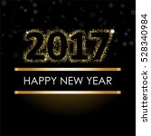 happy new year 2017 etter with... | Shutterstock .eps vector #528340984