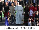 Small photo of BRZEGI, POLAND - JULY 29, 2016: World Youth Day 2016 , Brzegi near Krakow o/p pope Francis
