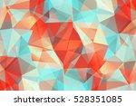 vivid modern geometrical... | Shutterstock .eps vector #528351085