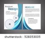 blue abstract report brochure... | Shutterstock .eps vector #528353035