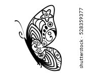 butterfly with abstract... | Shutterstock .eps vector #528359377