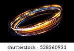 glow effect. ribbon flare.... | Shutterstock . vector #528360931