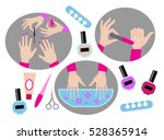 manicure.hands of manicure... | Shutterstock .eps vector #528365914