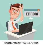 error message and puzzled... | Shutterstock .eps vector #528370405