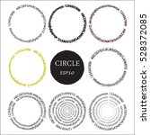 set of hand drawn circles ... | Shutterstock .eps vector #528372085