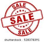 sale. stamp. red round grunge... | Shutterstock .eps vector #528378391