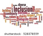 inclusion  word cloud concept... | Shutterstock . vector #528378559