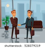 two smiling businessman... | Shutterstock .eps vector #528379219