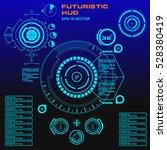 futuristic virtual graphic... | Shutterstock .eps vector #528380419