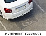 white car parked in the... | Shutterstock . vector #528380971