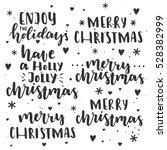 merry christmas lettering set.... | Shutterstock .eps vector #528382999