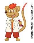 rat professor cartoon | Shutterstock .eps vector #528385234