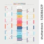 calendar 2017 print template... | Shutterstock .eps vector #528386329