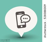 pictograph of message or chat... | Shutterstock .eps vector #528388309