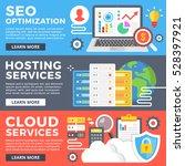 seo optimization  hosting... | Shutterstock .eps vector #528397921