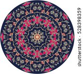 decorative plate with beautiful ... | Shutterstock .eps vector #528398359