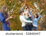 group of teenage friends... | Shutterstock . vector #52840447