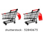 the vector shopping cart with... | Shutterstock .eps vector #52840675