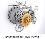 two metallic gray and one... | Shutterstock . vector #52840945