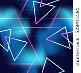 80's futuristic seamless space...   Shutterstock . vector #528415585