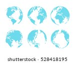 set of dotted style globe and...   Shutterstock .eps vector #528418195