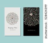business card design  floral... | Shutterstock .eps vector #528424399