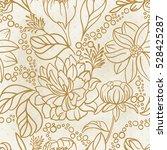 vector seamless floral hand... | Shutterstock .eps vector #528425287