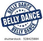 belly dance. stamp. blue round... | Shutterstock .eps vector #528425884