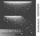 set of christmas snowfall... | Shutterstock .eps vector #528429694