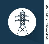 electrical pylon energy power...   Shutterstock .eps vector #528432205