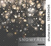 christmas falling snowflakes... | Shutterstock .eps vector #528434434