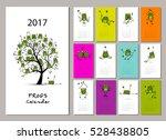 funny frogs  calendar 2017... | Shutterstock .eps vector #528438805