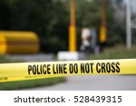 police line do no cross with... | Shutterstock . vector #528439315
