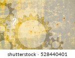 rusty background with gear... | Shutterstock . vector #528440401