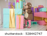 child standing among blue ... | Shutterstock . vector #528442747