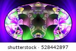 capsule flying in plasma. 3d... | Shutterstock . vector #528442897