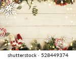 christmas background on the... | Shutterstock . vector #528449374