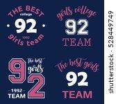 the best girls team college... | Shutterstock .eps vector #528449749