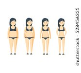 cartoon woman before and after... | Shutterstock . vector #528456325
