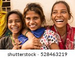 cute indian girls having fun. | Shutterstock . vector #528463219