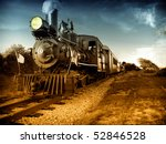 vintage steam engine locomotive ... | Shutterstock . vector #52846528