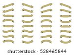 set of isolated ribbons on... | Shutterstock .eps vector #528465844