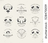 Wildlife Hunters  Hipster Logo...