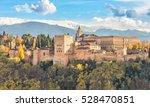 alhambra   medieval moorish... | Shutterstock . vector #528470851