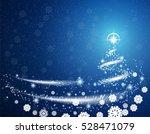 blue christmas blizzard... | Shutterstock .eps vector #528471079